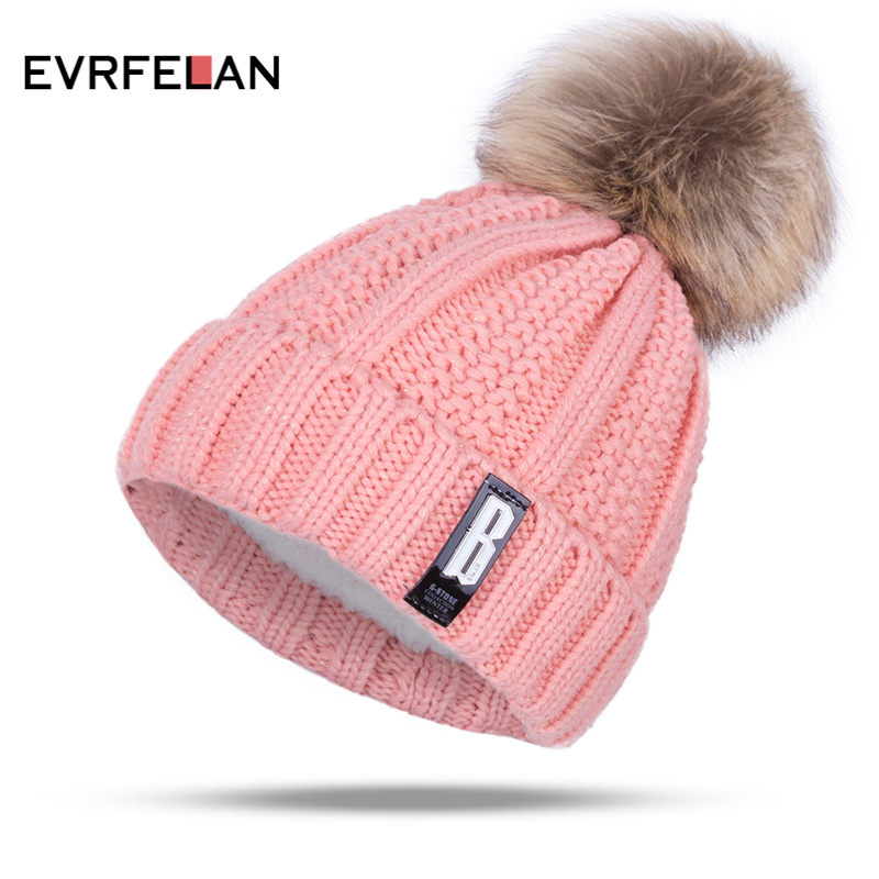 Pom Poms Winter Hat for Women - Pink Zone 070c16e28